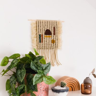 Easy DIY Colourful Macrame Wall Hanging