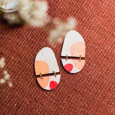DIY Applique Wooden Earrings