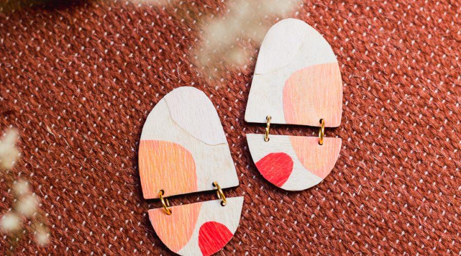 DIY Decoupage Wooden Jewellery