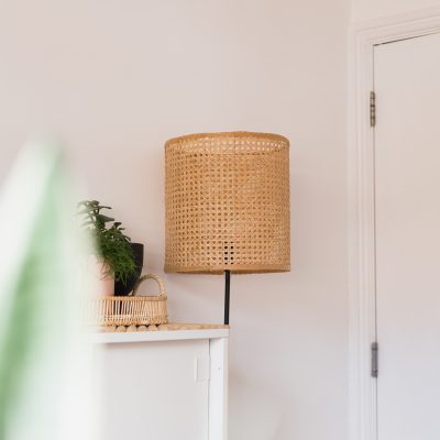 DIY Easy Rattan Lampshade
