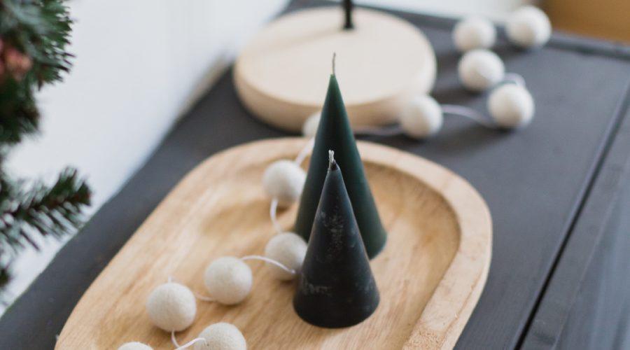 DIY Festive Tree Candles
