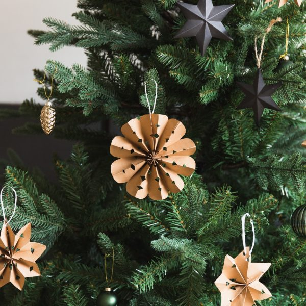 DIY Recycled Paper Star Decorations