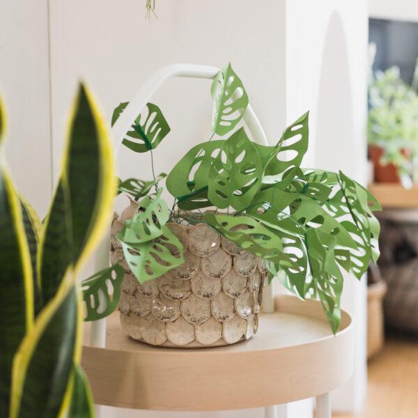 DIY Paper Cut Monkey Mask Plant