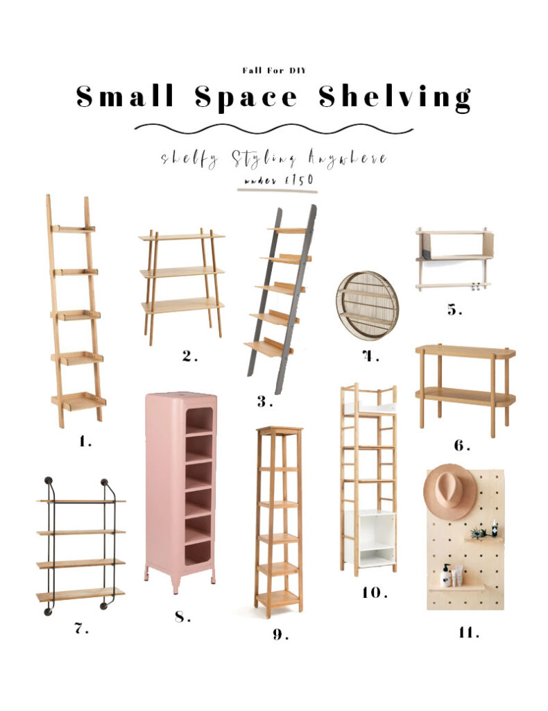 Small Space Shelving For Shelfie Styling Anywhere Fall For Diy