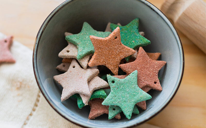 DIY Dyed Salt Dough Star Decorations